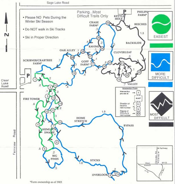Ogemaw Trails Pathway Map